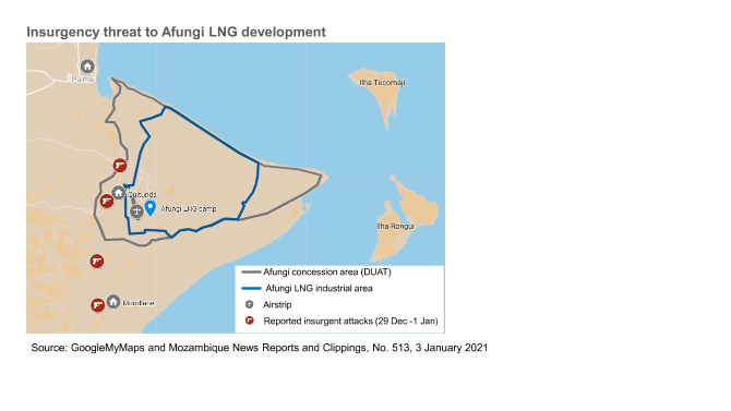 MOZAMBIQUE: Dramatic escalation of security threat to LNG ventures 1