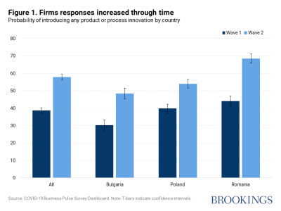 Figure 1. Firms responses increased through time